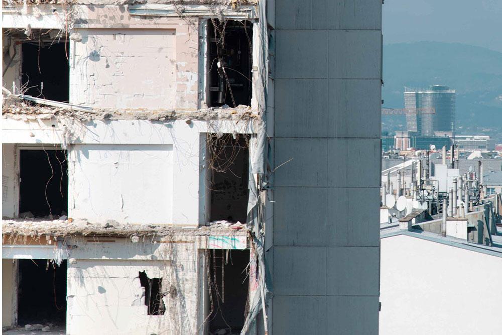 Dekonstruktion Zollamt Wien, Foto: Sabine Hauswirth